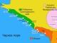 карта побережья краснодарского края.