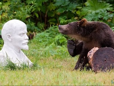 Ленин и медведь
