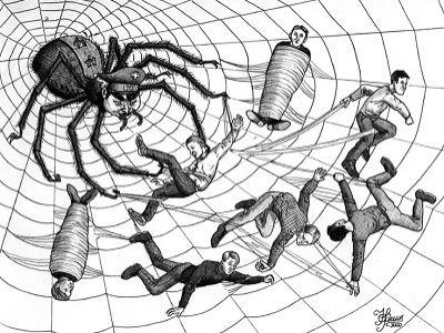 Милитаристский паук. Источник - http://ags-cpcd.narod.ru/