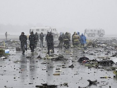 "На месте катастрофы ""Боинга"" FlyDubai, Ростов, 19.3.16. Фото: dailymail.co.uk"