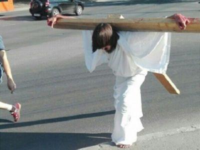 ВПерми схвачен мужчина вобразе Иисуса Христа