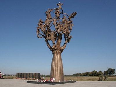памятник дерево скорби видео