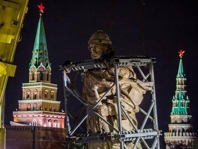 В российской столице  преждевременно  сняли леса с монумента  правителю  Владимиру