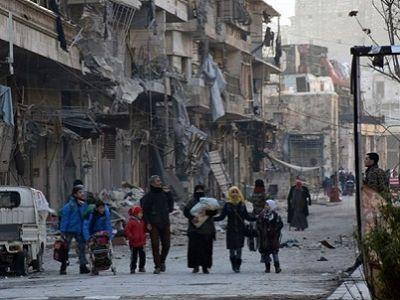 Около 6500 человек были вывезены извосточного Алеппо засутки