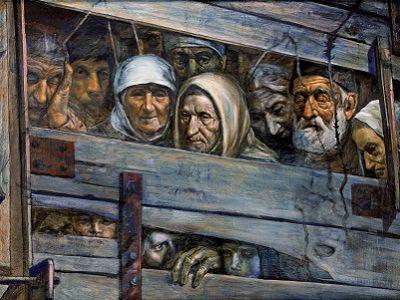 Сталинская депортация народов. Источник - sib-catholic.ru