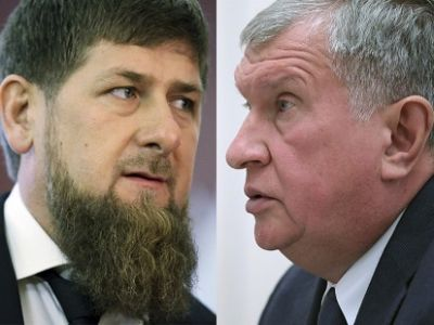 СМИ поведали оконфликте Сечина иКадырова