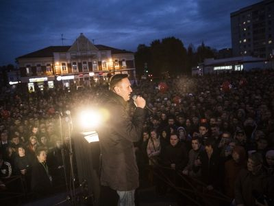 Алексей Навальный на митинге в Архангельске, 1.10.17. Фото: navalny.feldman.photo