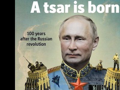 Журнал Economist поместил наобложку В.Путина вобразе царя