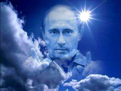 Путин в облаках. Источник - pikabu.ru