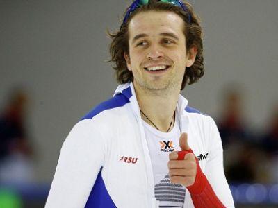 Конькобежец Дениса Юсков