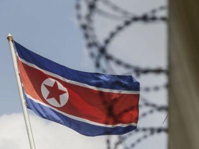 Флаг Северной Кореи, линия разграничения. Фото EPA/UPG.