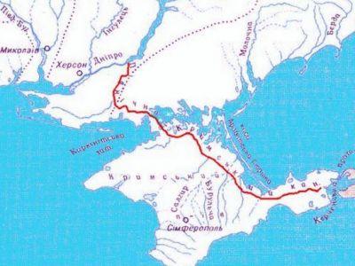 Крым и Северо-Крымский канал. Источник: www.facebook.com/ihlov.evgenij