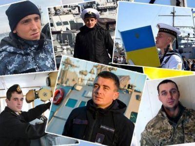 Захваченные украинские моряки. Фото: Ananiev.info
