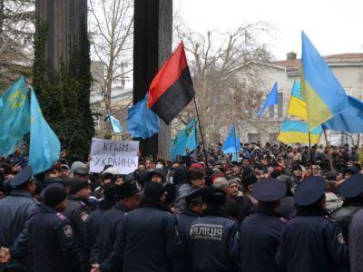 """Митинг в Крыму перед аннексией. Фото: """"Радио Свобода"""""""