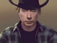 Путин-ковбой. Коллаж: www.youtube.com/watch?v=MCq09yz0HZo