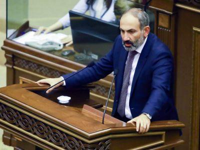 Выступление Никола Пашиняна в парламенте, 16.10.18. Фото: ТАСС