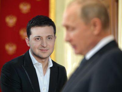 Владимир Зеленский и Владимир Путин. Коллаж: tvc.ru