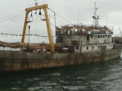 Браконьерское северокорейское судно. Скрин видео: ntv.ru