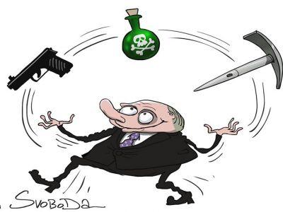 Фатальное жонглирование. Карикатура С.Елкина: svoboda.org