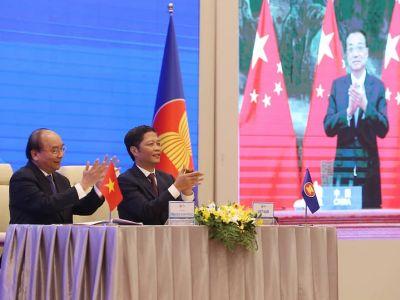 Заключение соглашения о Всеобъемлющем региональном экономическом партнерстве. Фото: EPA-EFE / Vostock Photo