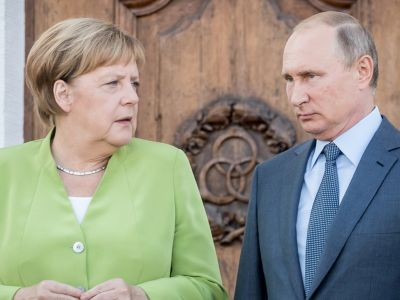 нгела Меркель и Владимир Путин. Фото: Michael Kappeler / dpa / Global Look Press